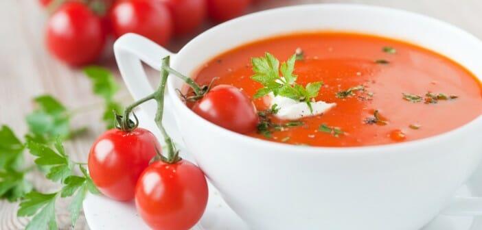 petite soupe de tomates au ch vre frais. Black Bedroom Furniture Sets. Home Design Ideas