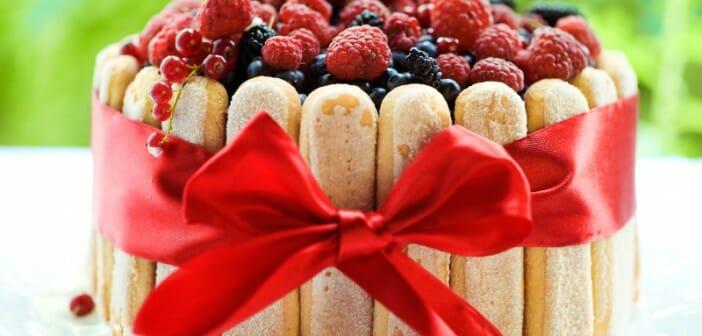 Charlotte aux fraises «light»