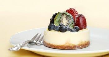 mini cheesecake aux fruits frais
