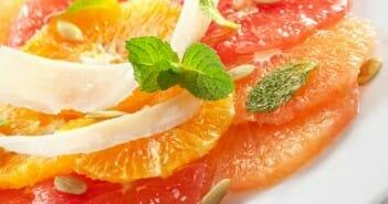 salade agrumes lavande
